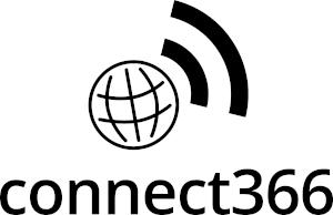 Connect366 black Logo